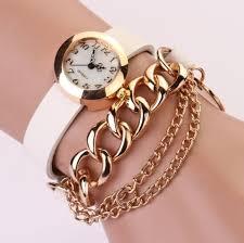 woman bracelet images Chain pu leather band bracelet trendy woman watch myfriendshop jpg
