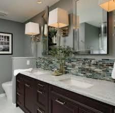 bathroom sink backsplash ideas interior bathroom backsplash mosaic vanity and mirrors glass tile