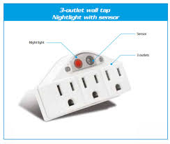 wall mounted surge protector power 3 outlet surge protector grounded wall mount tap nightlight