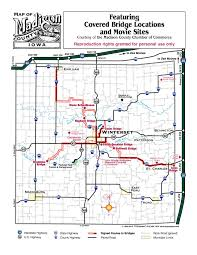 bridges of county map map to bridges county iowa chamber welcome center