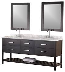 72 Inch Single Sink Bathroom Vanity Design Elements Dec077a W Vanity In Pure White Contemporary