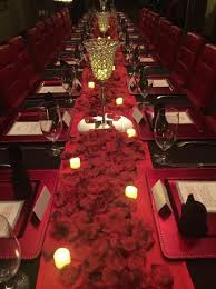 private dining room at the art and soul restaurant decorated for
