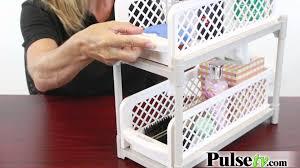 Bathroom Basket Drawers Portable 2 Tier Basket Drawers Youtube
