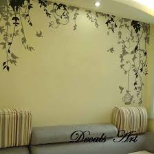 Nursery Wall Mural Decals Vines Vinyl Stickers Wall Mural Decals Tree Lounge Room Enjoyable