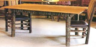 Hickory Table Top Rustic Tables From Adirondack Rustic Designs