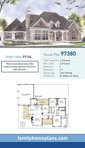 Side Garage Floor Plans 1412 Best House Plans Images On Pinterest House Floor Plans