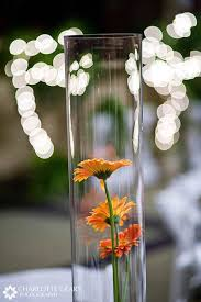 Ideas For Gerbera Flowers Wedding Centerpiece With Orange Gerbera Daisies In A Vase