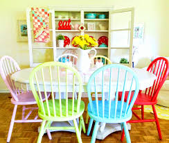 furniture gorgeous colorful dining room table color ideas