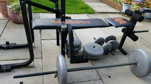 used bench with weights in ab31 aberdeenshire for 15 00 u2013 shpock
