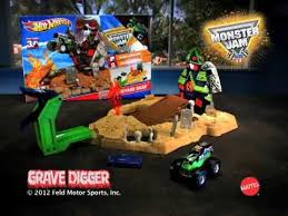 wheels monster jam grave digger truck mattel wheels monster jam grave digger boneyard bash youtube