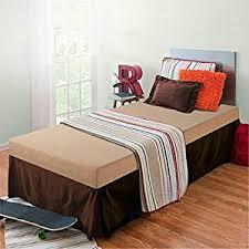 amazon com zinus sleep master memory foam 5 inch bunk bed