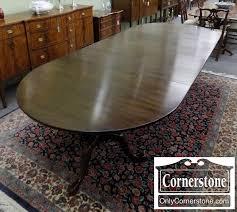 Henkel Harris Dining Room Furniture Henkel Harris Solid Mahogany Oval Pedestal Table With 4 Leaves In
