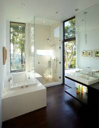 bathroom mandeville canyon residence in los angeles by griffin