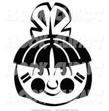 black and white thanksgiving clipart vector clip art of a black and white american indian boy u0027s face