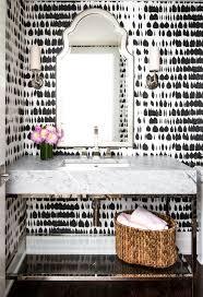Vintage Powder Room Schumacher Queen Of Spain Black Wallpaper Vanities Bald