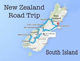 Road Trip Map New Zealand Road Trip Map Deboomfotografie