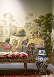 a panoramic de gournay wallpaper early views of india evokes an