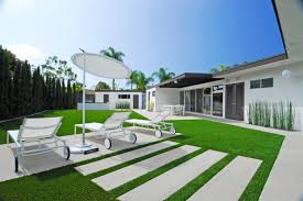 mid century modern revitalized contemporary landscape orange