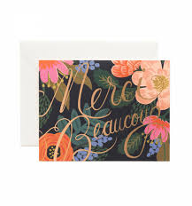 bordeaux thanks greeting card by rifle paper co made in usa