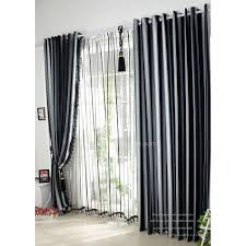 Thick Black Curtains Classical Black And White Polyester Thick Interiors Blackout Curtain