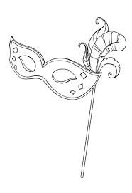cardsadult mardi gras a typical mardi gras mask for coloring page