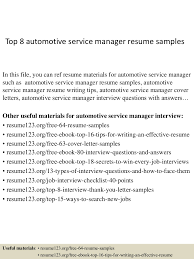 Best Customer Service Manager Resume by Top8automotiveservicemanagerresumesamples 150408080036 Conversion Gate01 Thumbnail 4 Jpg Cb U003d1428498082