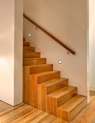 Recessed Handrail Wall Mounted Railing Ideas Staircase Modern With Wood Flooring