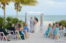 ocean house beach wedding under the palms in islamorada florida