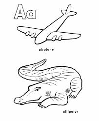 airplane coloring pages alphabet coloring pages printable a is