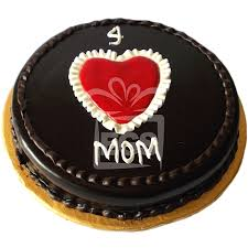 send 2lbs mum heart chocolate fudge cake hob nob bakers