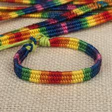 make rainbow bracelet images Free shipping women fashion jewelry wax line rainbow color jpg