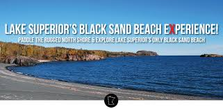 Black Sand Beaches by Black Sand Beach Kayak Adventure U003e The Duluth Experience