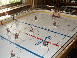 best table hockey game more table hockey full rink checking great goaler action and