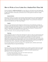 Generic Cover Letter General Cover Letter Examples For Part Time Jobs