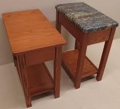Red Oak Table by Solid Custom Red Oak Side Table Granite Top U0026 Solid Red Oak Side