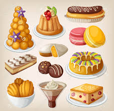 set of traditional french desserts royalty free cliparts vectors
