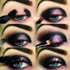 black and lilac galaxy eye makeup tutorial evatornado evatornado spot