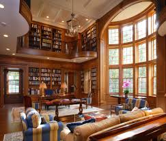 two story living room loft library living room traditional with den entertainment centers