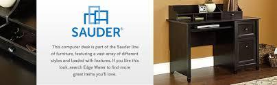 sauder edge water computer desk amazon com sauder edge water computer desk estate black finish