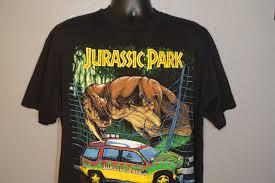 jurassic park car trex 1993 rare jurassic park jeep t rex vintage t shirt
