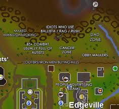 Runescape 2007 World Map by Accurate Map Of Edgeville For Anyone New To Edgeville Pking