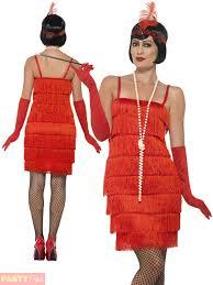 short red flapper fancy dress womens 20s costume hen party ideas