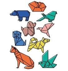 Origami Pets - line origami animals royalty free vector image