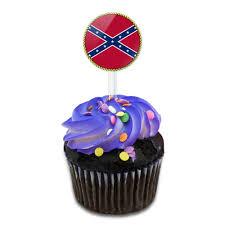 rebel flag cupcake toppers picks set