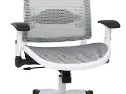 office chair comely ergonomic mesh office chair white color