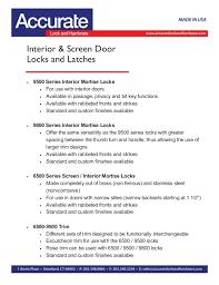 Mortise Interior Door Hardware Interior Screen Door Hardware
