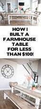 Farm House Tables Diy Farmhouse Table And Bench Honeybear Lane