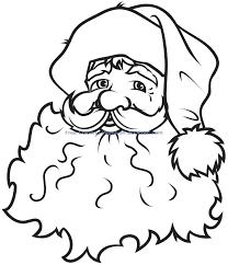christmas santa claus coloring pages printable drawing photo