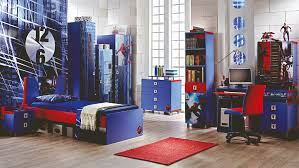 bedroom blue color of bookshelving also wardrobe and dresser also amazing red blue spiderman boys theme bedroom with vibrant red blue bed and foxy blue study desk book shelves and cabinet all with ravishing spiderman