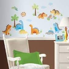 New DINOSAURS WALL DECALS Dinosaur Stickers Kids Bedroom Baby Boy - Kids dinosaur room